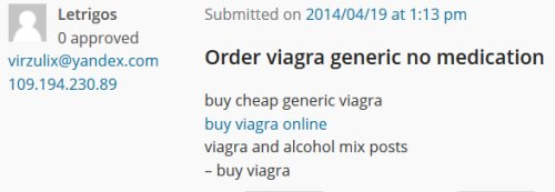 Viagra Comment Spam