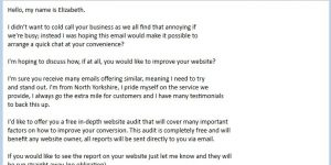 Web Consultancy SPAM Email
