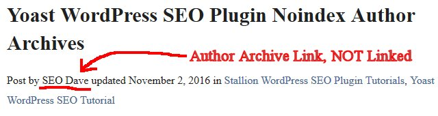 WordPress Author Archive Link