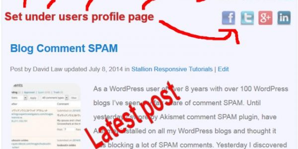 WordPress Authors Page Template