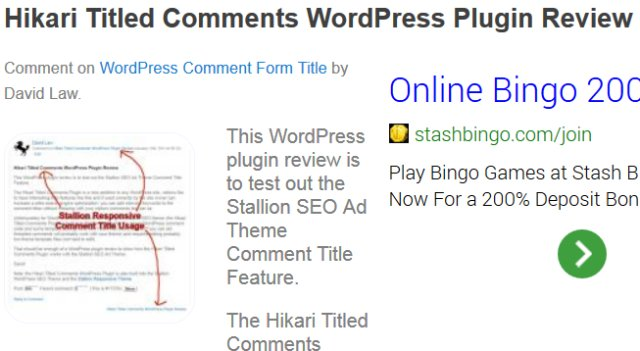 WordPress Blog Comments SEO Title