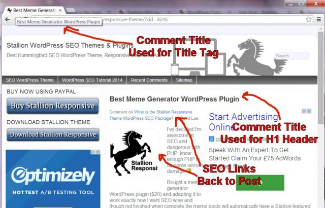 WordPress Blog SEO Comments