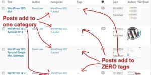 WordPress Categories SEO