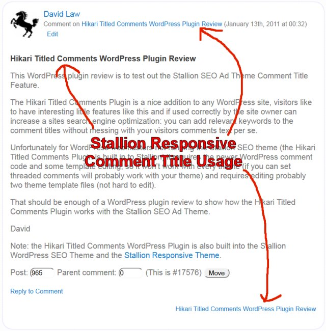 WordPress Comment Title