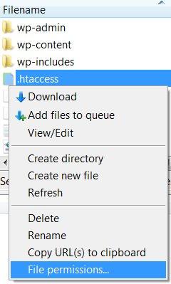 WordPress .htaccess Permissions
