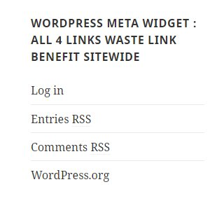 WordPress Meta Widget Wastes Link Benefit