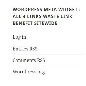 WordPress Meta Widget Wastes Link Benefit