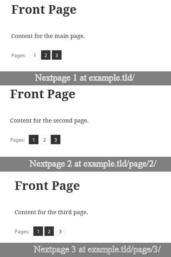 WordPress NextPage Feature