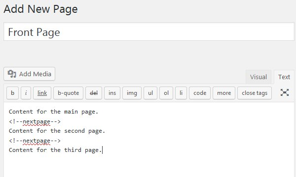 WordPress NextPage Pagination