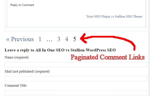 WordPress Paginated Comment Links