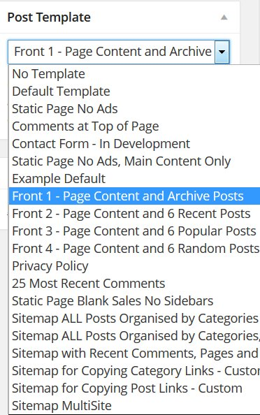 wordpress single post page template - wordpress landing page template content and archives