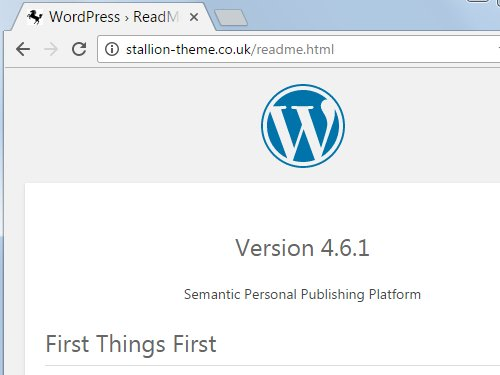 WordPress Readme.html File Security Concerns