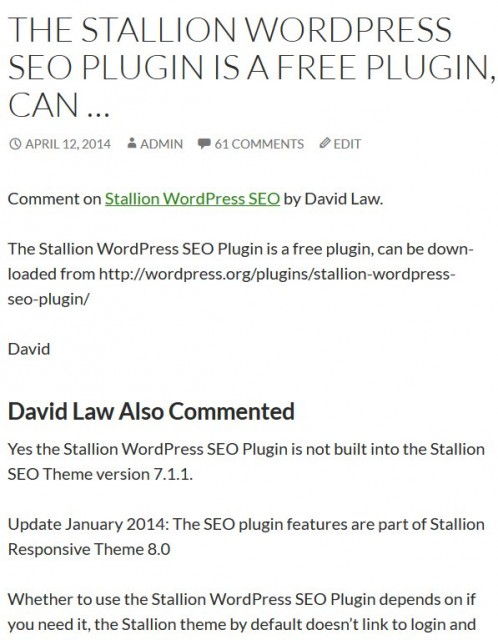 WordPress SEO Comment