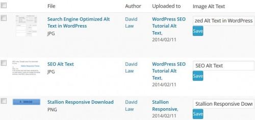 WordPress SEO Image Alt Text