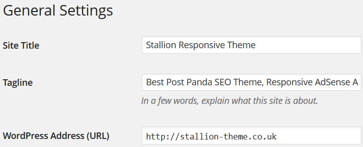 WordPress Site Title Tag SEO