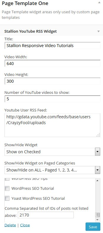 WordPress YouTube RSS Feed Widget