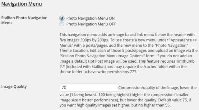 WP Photo Navigation Menu
