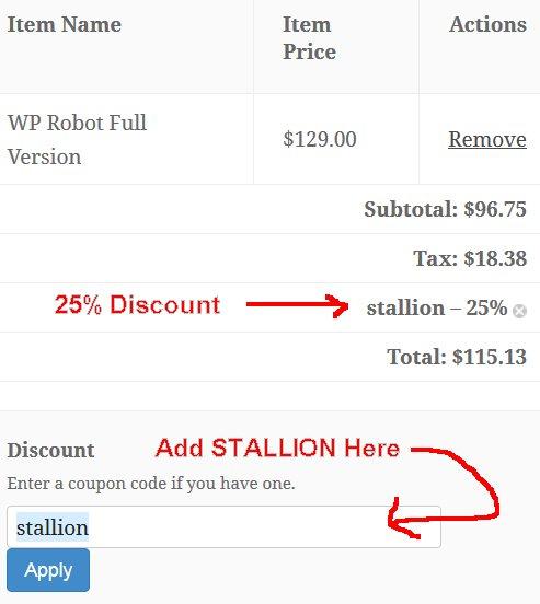 WPRobot Discount Code