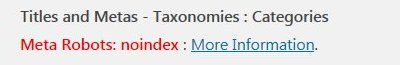 Yoast Noindex Categories SEO Warnings