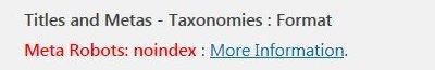 Yoast Noindex Custom Taxonomies SEO Warnings