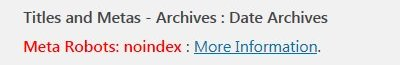Yoast Noindex Date Archives SEO Warnings