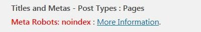 Yoast Noindex Pages SEO Warning