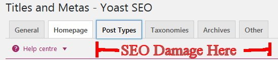 Yoast SEO Noindex SEO Damaging Options
